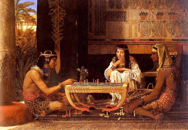 Lawrence Alma-Tadema Egyptian Chess Players