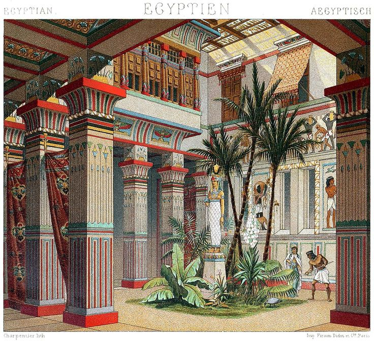 Ancient Egyptian Interior Decor : Mansions was decorated with animal sculptures and carpets. The ...