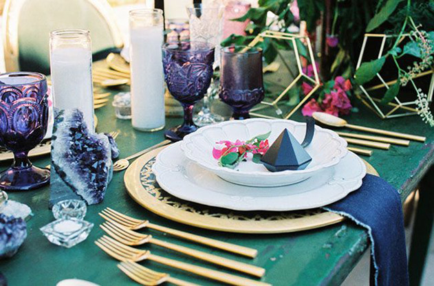 New-Year-Party-Table-Decor-Gems-Amethyst